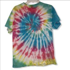 Vintage tie dye 70s hippie boho t-shirt unisex med
